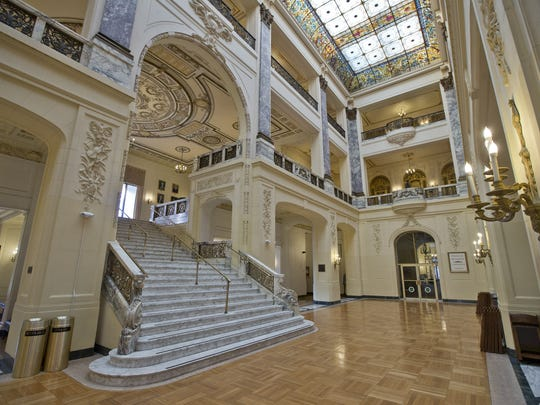 """Monmouth University's Wilson Hall in West Long Branch, where parts of the movie """"Annie"""" were filmed."""