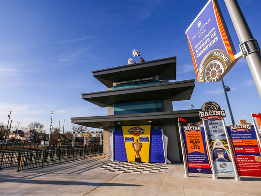 The Old National Bank Avenue of Champions in the outdoor portion of the Riley Children's Health Sports Legends Experience, seen during a preview event at the Children's Museum of Indianapolis, Thursday, March 15, 2018.