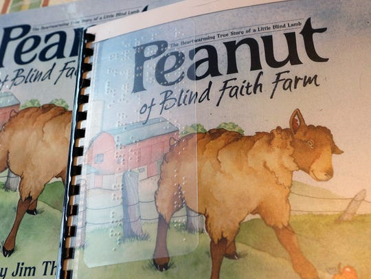 "A Braille version of the children's book, ""Peanut of"