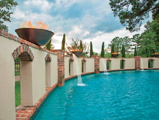 Cascading fountains are a nice feature to add to a