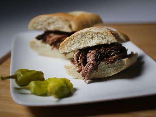 Mississippi Roast baguette sandwich photographed Thursday, Feb. 4, 2016. REGINA H. BOONE/Detroit Free Press