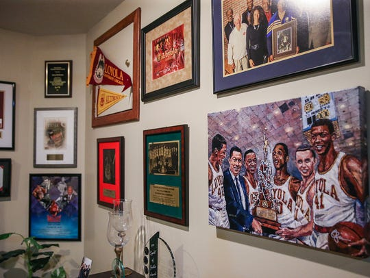 Jerry Harkness' basement is covered in memorabilia