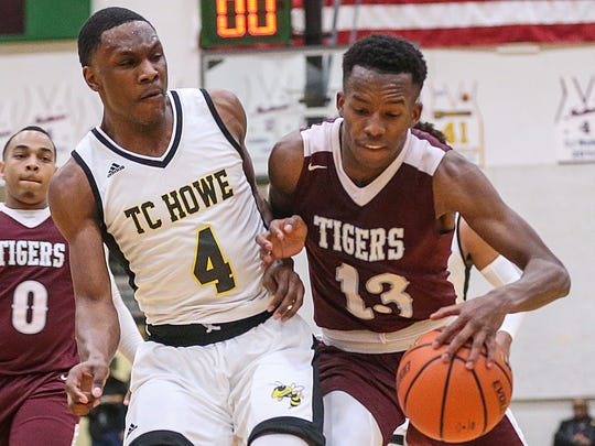 Tindley Tigers guard Eric Hunter (13)