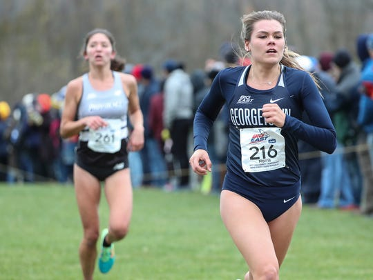 Josette Norris of Tenafly running for Georgetown at