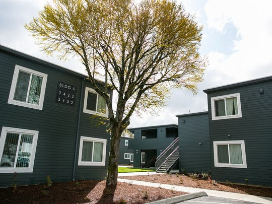 Fairhaven Gardens apartments on Monday, April 2, 2018, in Salem. With the help of more than $17 million in public and private investment, Community Development Partners provided fresh flooring, doors, windows, baths, kitchens, exteriors and a 1-acre community garden to the 87-unit complex.