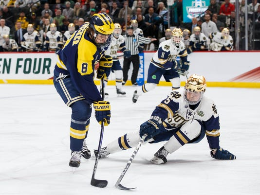 NCAA Hockey: Frozen Four-Michigan vs Notre Dame