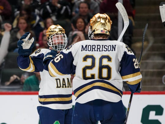 Notre Dame Fighting Irish Forward Andrew Oglevie (15)