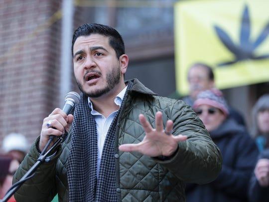 Democratic gubernatorial candidate Abdul El-Sayed speaks