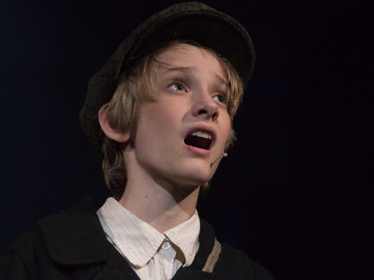 "Ben Heneveld plays Oliver in ""Oliver!"" at the Cascade Theatre."