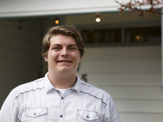CJ Larsen, 18, required special education and attended Sprague High School, then dropped out and earned his GED through the Downtown Learning Center. Photographed at his home in Salem on Wednesday, April 18, 2018.