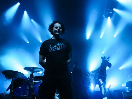 Jack White performs at a sold-out Eagles Ballroom at the Rave Friday.