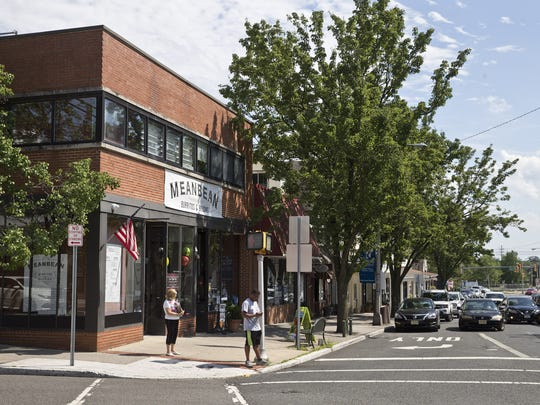 The tntersection of Main Street and Washington Street in the downtown section of Toms River, seen in 2016. Hops on Main will open on Main Street near Washington Street soon.