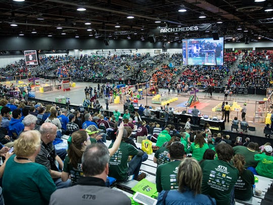 Day 2 of the 2018 FIRST Robotics World Championships