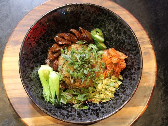 Monroe Market's Noodle Art offers a gyudon bowl that features Wagyu beef, sushi and sashimi.