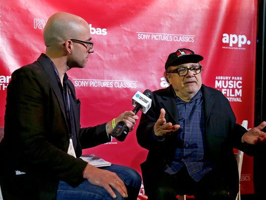 Actor and Asbury Park native Danny DeVito is interviewed
