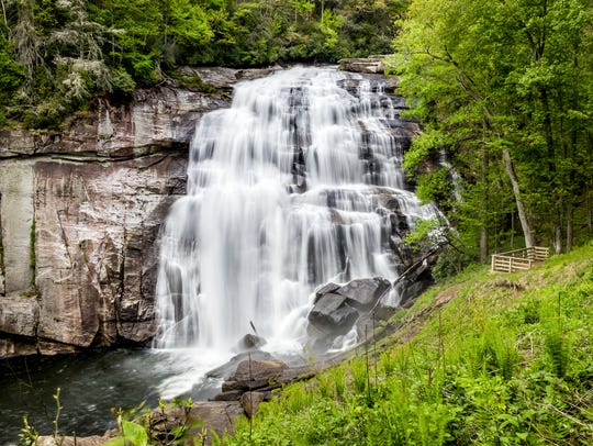 Admire the view or jump on in. Asheville waterfalls