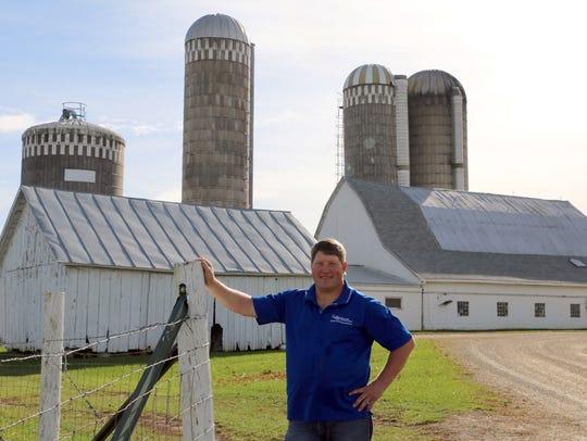 Wisconsin Farmers Union President Darin Von Ruden stands