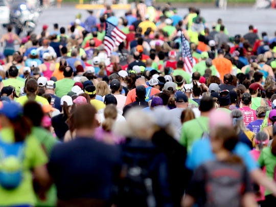 Runners compete in the Willamette Valley Marathon and Half Marathon in Salem on Sunday, May 6, 2018.