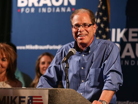 Indiana Primary Election 2018 watch party for Indiana senate candidate Mike Braun