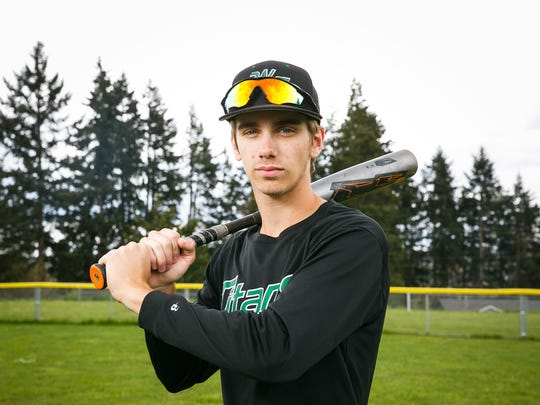West Salem senior outfielder Blake Arritola hits for