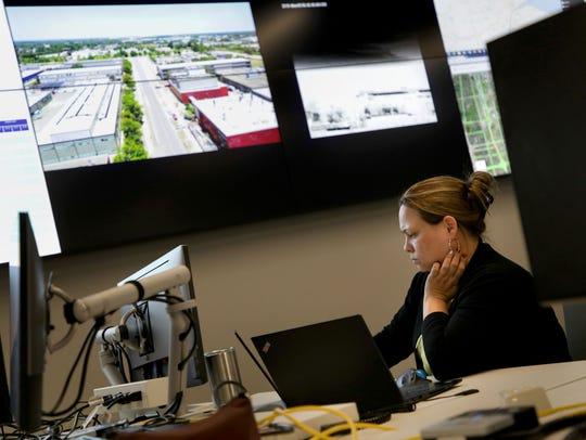 Customer Service Representative Angela Eichler works