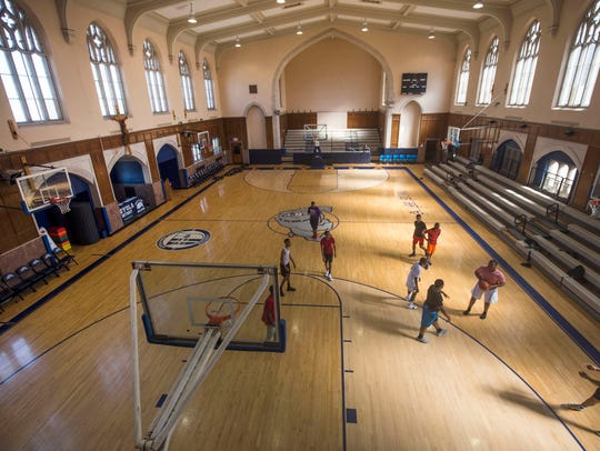 The Loyola High School gym is the former St. Francis