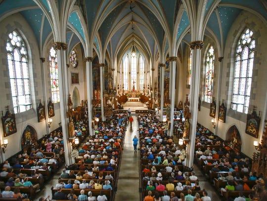 The interior of St. Joseph Catholic Church near Eastern Market in Detroit.