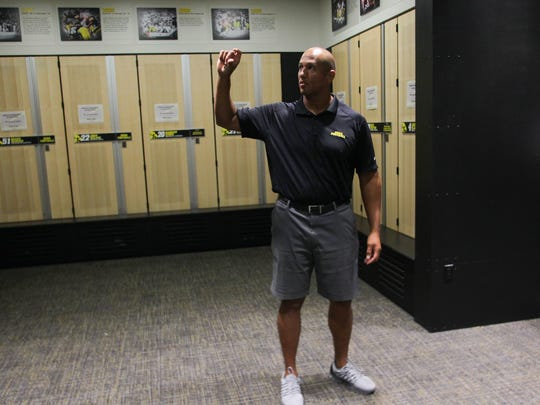 LeVar Woods, shown inside the Iowa Football Performance Center in 2015, is the Hawkeyes' special-teams coordinator.