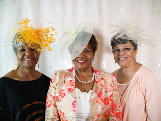 Annie Scott, 77, of Southfield, from the left, Dolores