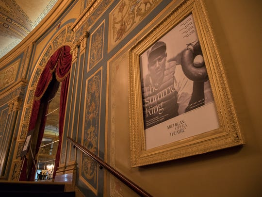 "A poster of the opera ""The Summer King"" in the grand"