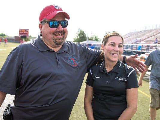 Roncalli Rebels lacrosse assistant coach Vinny Romano