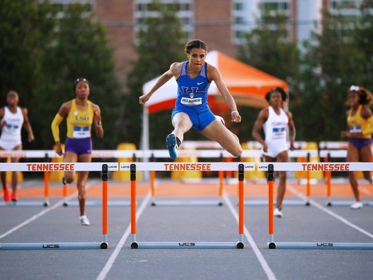 Kentucky freshman Sydney McLaughlin runs away with the 400-meter hurdles at the SEC Championships.