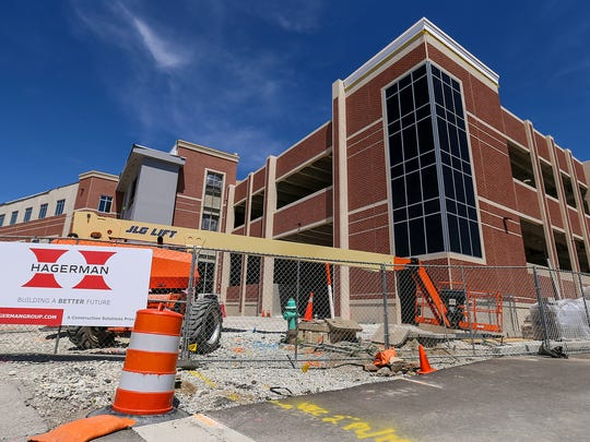A new, three-story police station is being built on Municipal Plaza just east of the current station in Fishers.