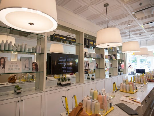 Inside a Drybar that opened last year in Indianapolis.