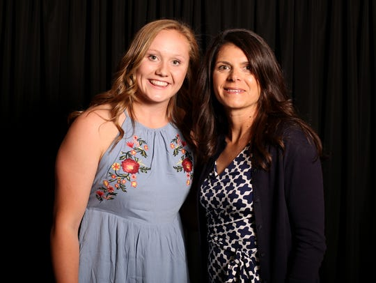 Maggie Roth with soccer star Mia Hamm, special guest