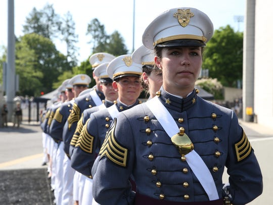 Cadets of the class of 2018 take part in  the 220th