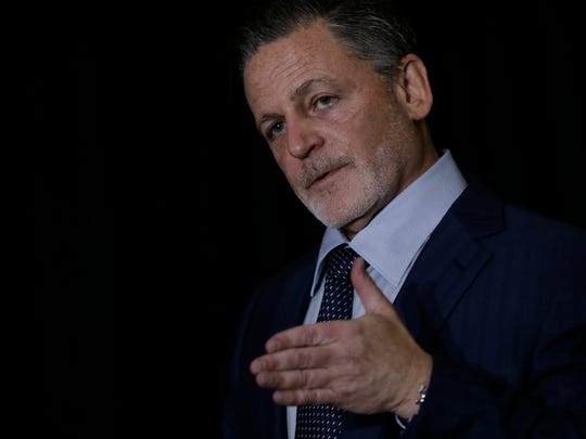 Dan Gilbert, Bedrock founder and chairman, announces a plan for four downtown Detroit redevelopments including the Book Building totaling $2.1 billion in new investments at the Book Building in Detroit on Wednesday, September 20, 2017.