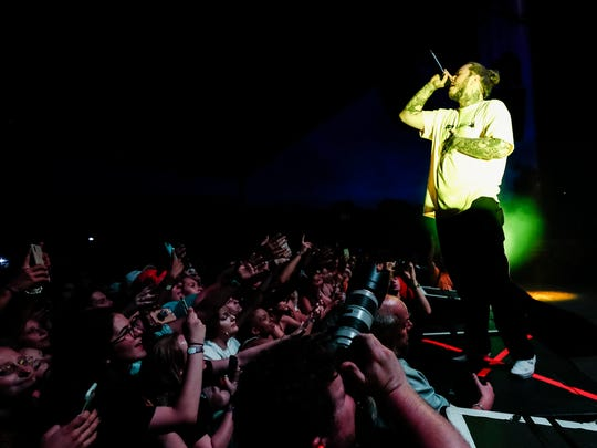 Post Malone performs during his North American tour