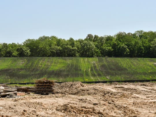 Construction is underway at one of 10 lots in a 62-acre portion of Harvest Park. The planned commercial medical marijuana business park also has a second phase that consists of 67 acres in Windsor Township.
