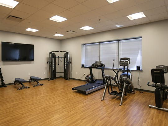 A fitness area where group classes will be held at