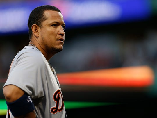 Miguel Cabrera hit for the Triple Crown in 2012, becoming the first player to do so since Carl Yastrzemski in 1967.