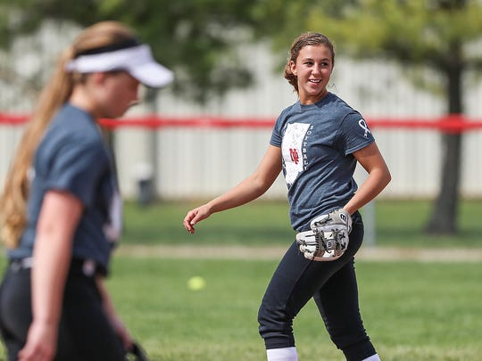 New Palestine's Ashley Prange was named state's Gatorade Player of the Year.