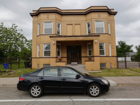 This photo shows one of Jerry Esters' several properties on 14th street in Corktown, Detroit, on Tuesday, June 12, 2018.