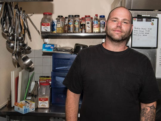 Matt Jones graduated from the Men's Life Recovery Program at The Haven of Rest Ministries and is now employed in the kitchen at The Haven.