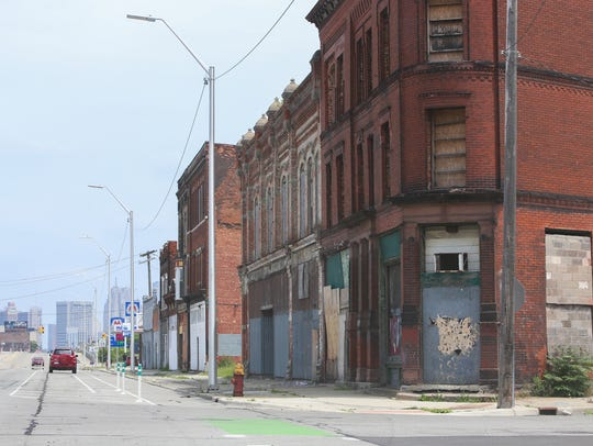 Detroit's Corktown neighborhood sits just west of downtown