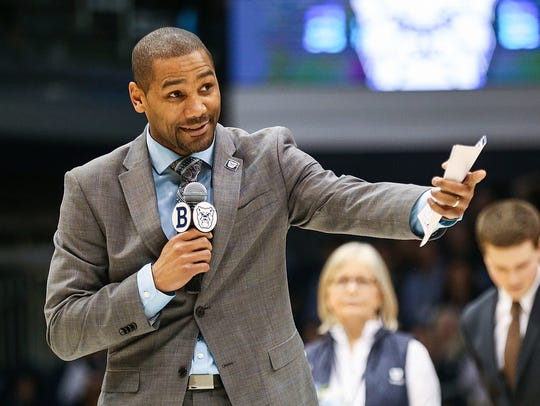 LaVall Jordan recognizes Tyler Wideman and Kelan Martin