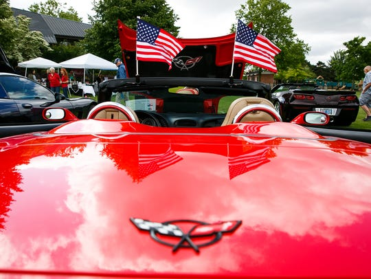 A 2002 C5 Corvette at the first Corvettes by the Carousel