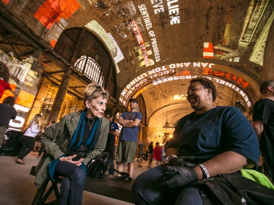 Photos: Ford's Detroit train station open house