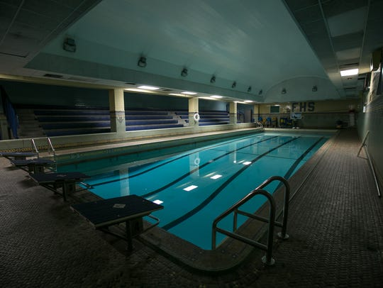 The original tiling and pool are still intact at Fordson