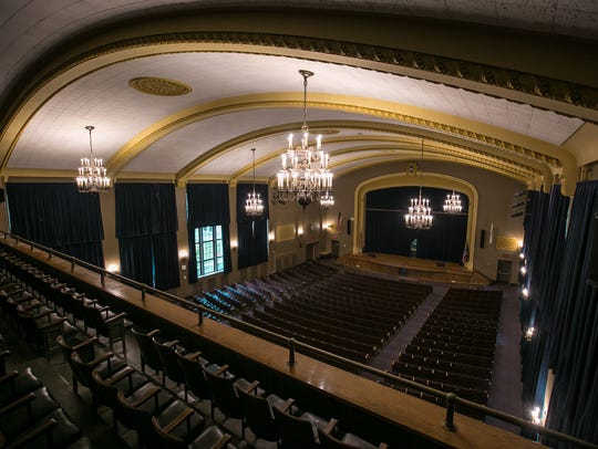 The inside of the Harvey A. Failor Auditorium at Fordson